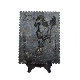 """2014年发行""""骏马祥瑞邮票茶砖"""" 马年收藏品"""
