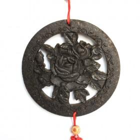牡丹中国结茶雕挂件