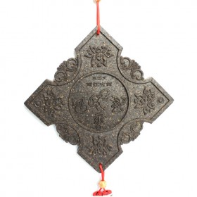 菱形东巴文普洱茶工艺品,最具云南民族特色的普洱茶雕工艺品