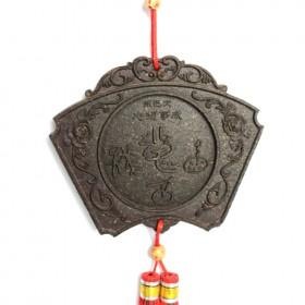 扇形东巴文普洱茶工艺品,最具云南民族特色的普洱茶雕
