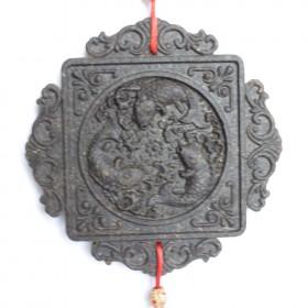 圆形鱼挂件茶雕,最具云南民族特色的挂件普洱茶工艺品