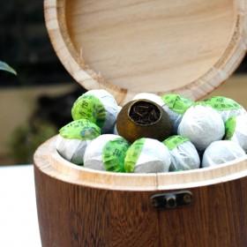 2017年正宗小青柑 一级普洱熟料木桶装简约大方柑普茶节日礼品