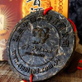 古树飘香乐虎国际娱乐手机版 旅游公司定制案例 直径15cm 企业定制普洱工艺茶