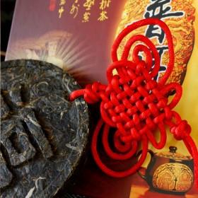 古树飘香茶雕 旅游公司定制案例 直径15cm 企业定制普洱工艺茶